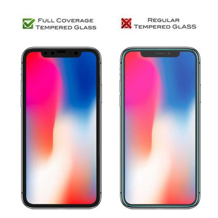 iPhone XS Max Screen Protector, [2 Pack] 6D Curved Edge Full Coverage Tempered Glass Guard Full Protection Glass Screen Film Compatible for Apple iPhone XS Max 6.5 Inch - image 2 of 3