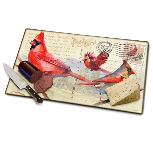 American Expedition Glass Cardinal Postcard Cutting Board