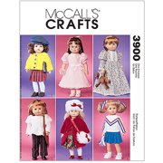 "Mccall's Pattern Doll Clothes For 18"" Do"