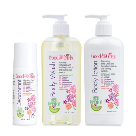 Good For You Girls Body Care Set - Body Wash, Body Lotion, and Deodorant