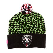 Mishka Mens The D.A. Snakebite Pom Beanie Hat, green, One Size