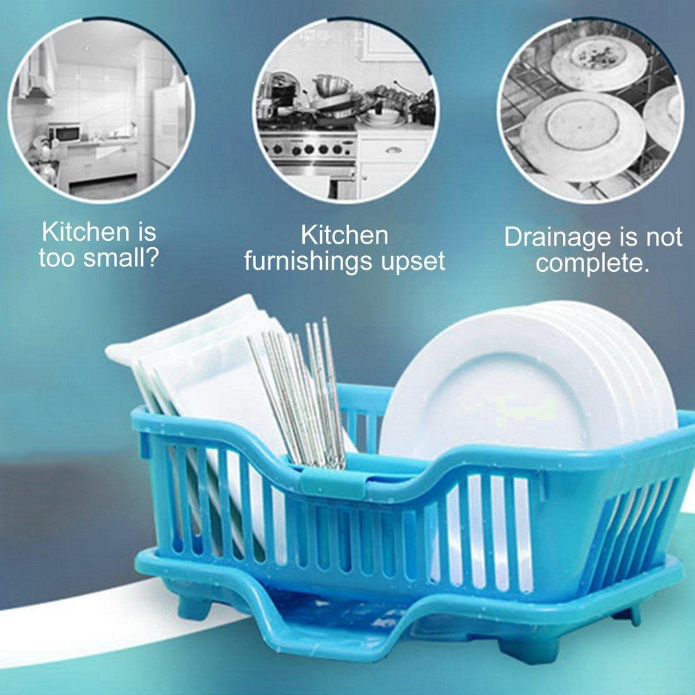 Washing Holder Basket Rack Storage Dry Shelf Cutlery Drainer Kitchen ...
