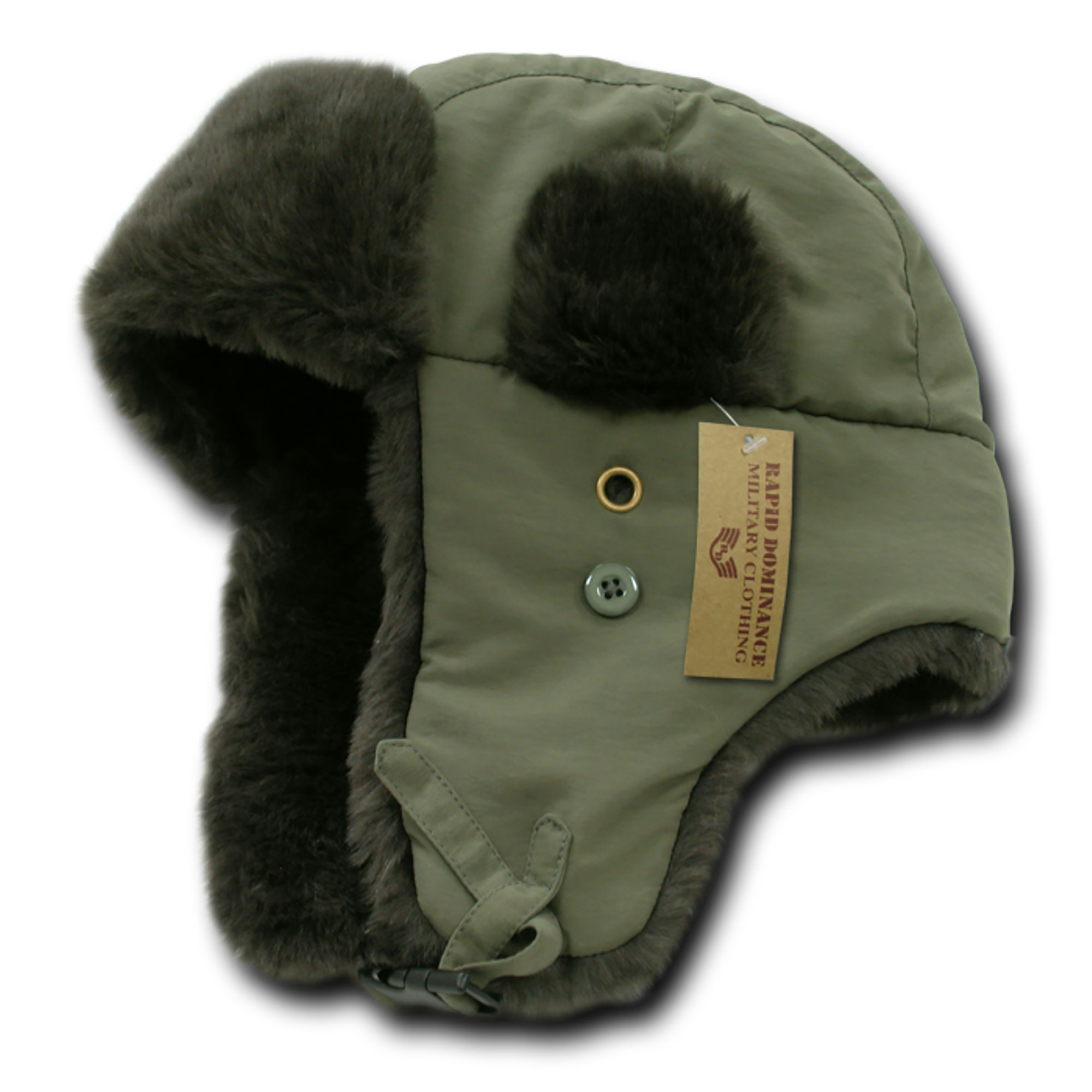 Rapid Dominance Aviator Plastic Buckle Fastener Soft Faux Fur Hats, Style R06