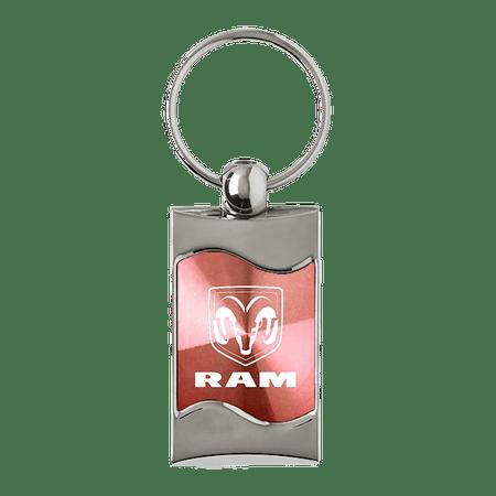Au-TOMOTIVE GOLD Ram Logo Rectangular Wave Pink Key Fob