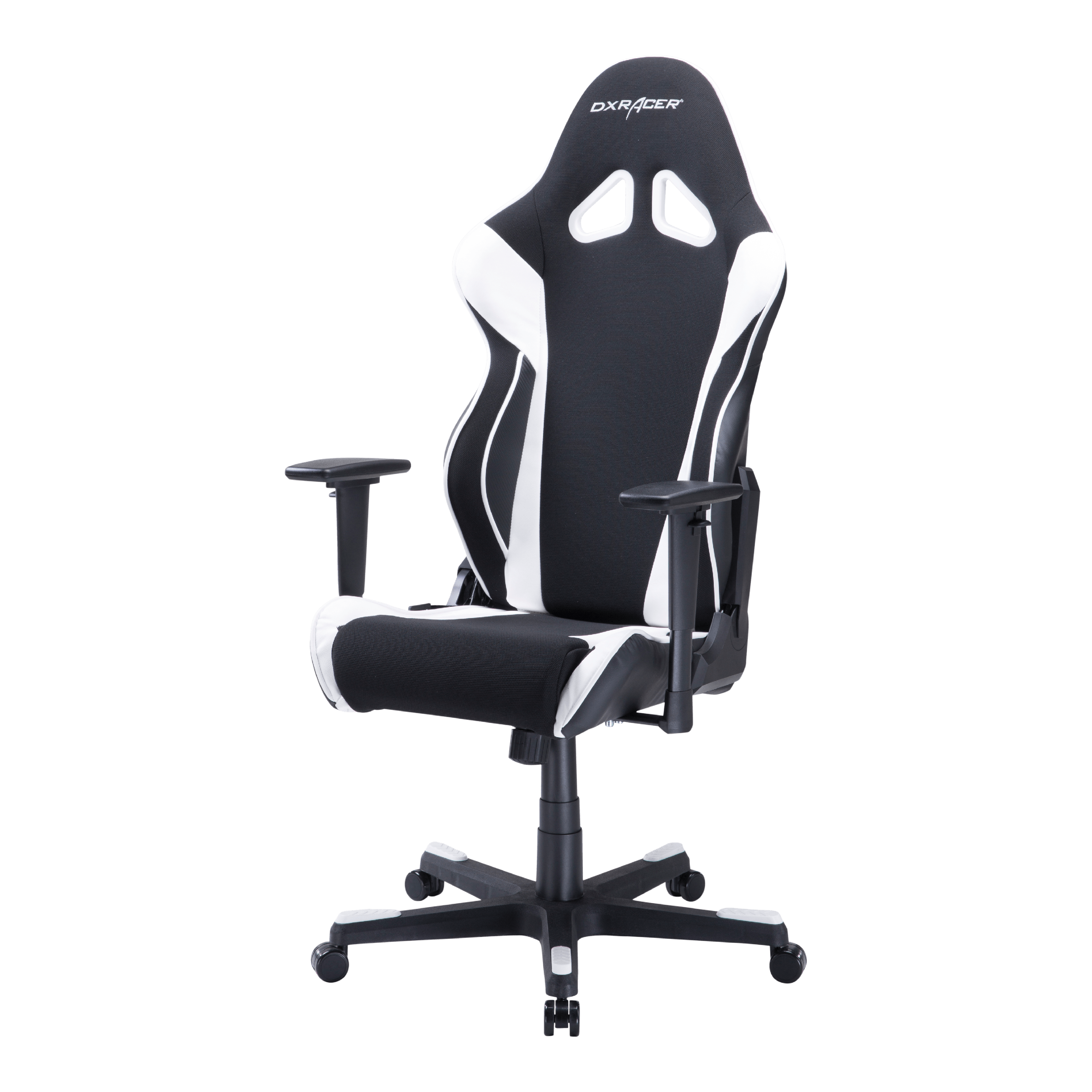 DXRacer Racing Series Black and White - OH/RW106/NW - Ergonomic, High Back, Reclining, Gaming  E-Sports  Office Chair