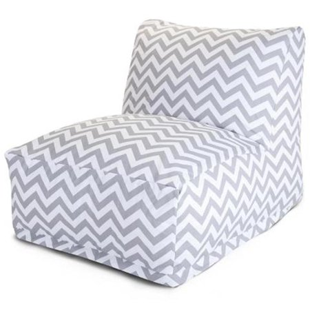 Majestic Majestic Gray Chevron Bean Bag Chair Lounger Product Photo