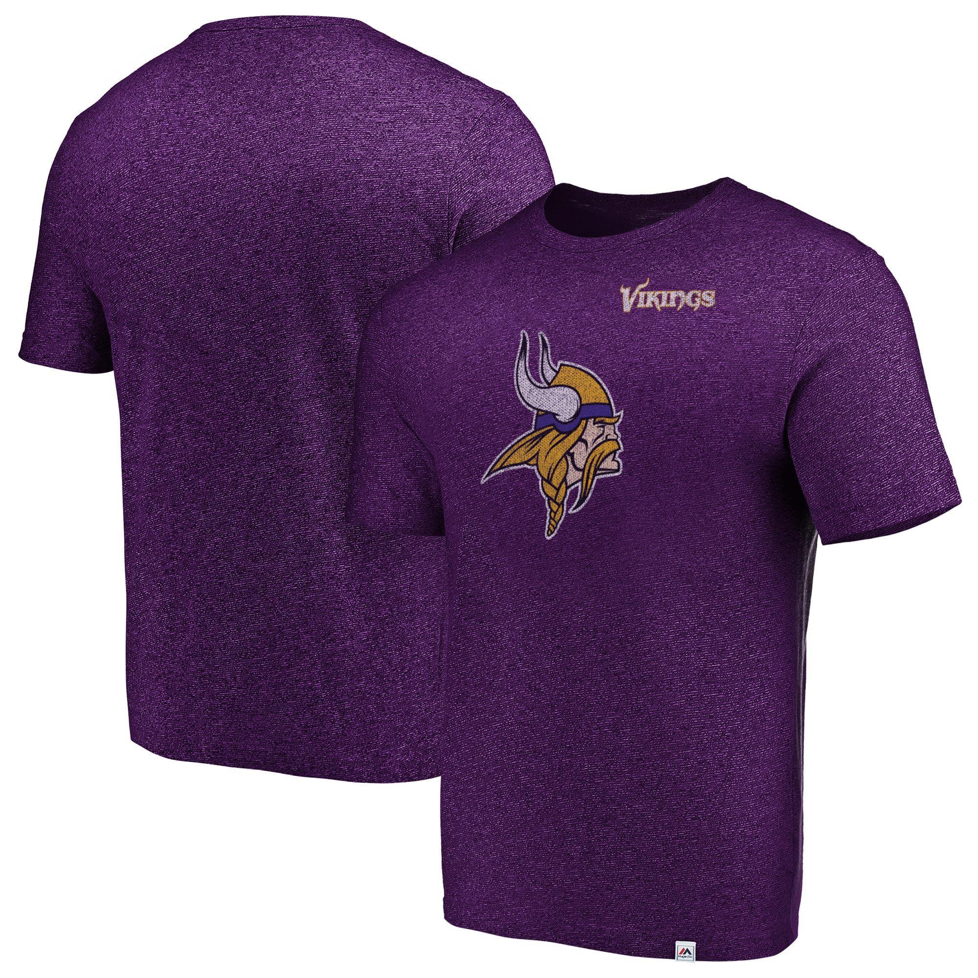 Minnesota Vikings Majestic Static Logo Marled T-Shirt - Purple - M