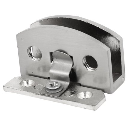 Uxcell Unique BargainsCabinet Showcase Door Metal Glass Clamp Hinge Silver Tone 47x28x29mm