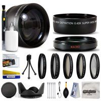 10 Piece Ultimate Lens Package For Sony DSC-H10 DSC-H5 DSC-H3 DSC-H1 DSC-H2 DSC-H5 Digital Camera Includes .43x Wide Angle Fisheye Lens + 2.2x Telephoto Lens + Pro 5 Piece Filter Kit