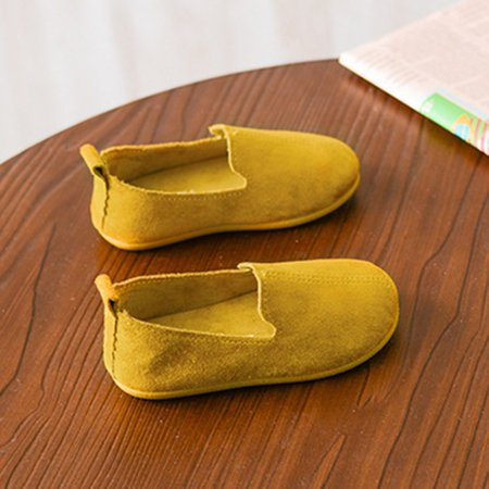 Solid Color Slip On Shoes Soft PU Flat Shoes with Anti-slip Rubber Sole Unisex - image 2 de 6