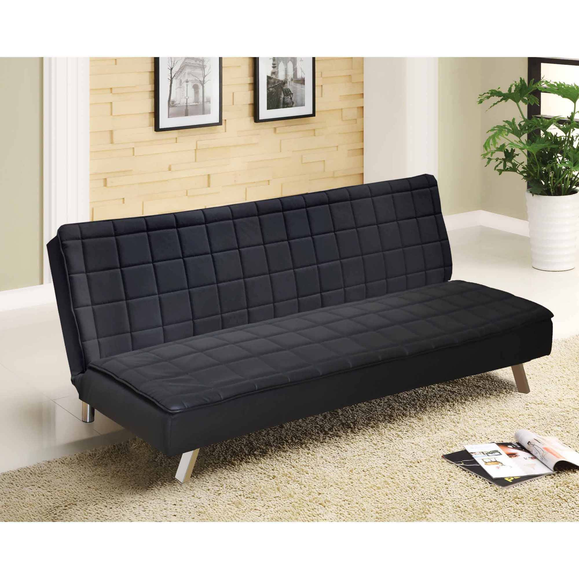 Urban Hilary Memory Foam Faux Leather Futon Multiple Colors Com