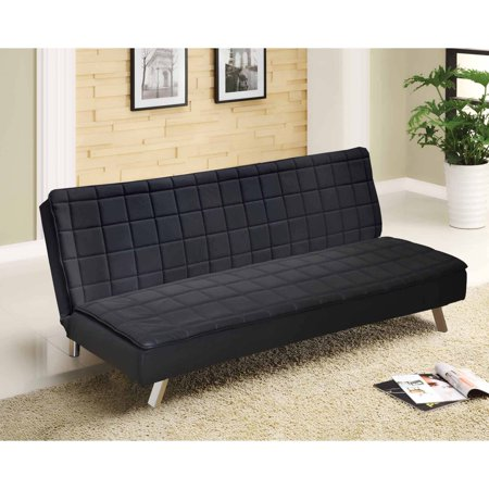 Urban Shop Hilary Memory Foam Faux Leather Futon Multiple