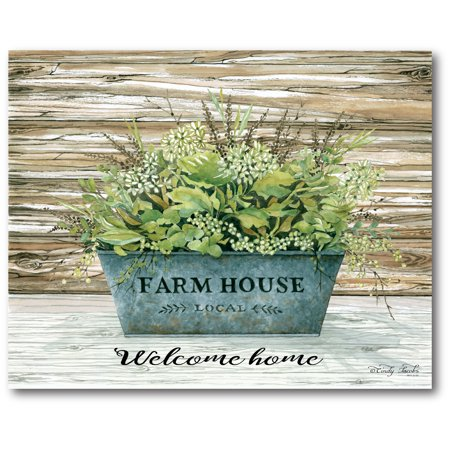 Courtside Market Farmhouse welcome Gallery-Wrapped Canvas Wall Art, 16x20 ()