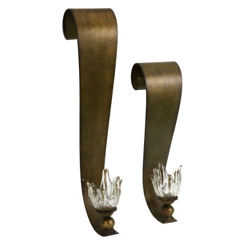 Aldous Glass Flower Candleholders - Set of 2