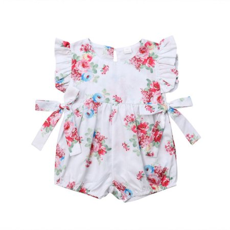 pre order shop for luxury the cheapest Infant Newborn Toddler Baby Girls Summer Clothes Bobysuit Floral Print  Vintage Jumpsuit Outfit Playsuit Romper