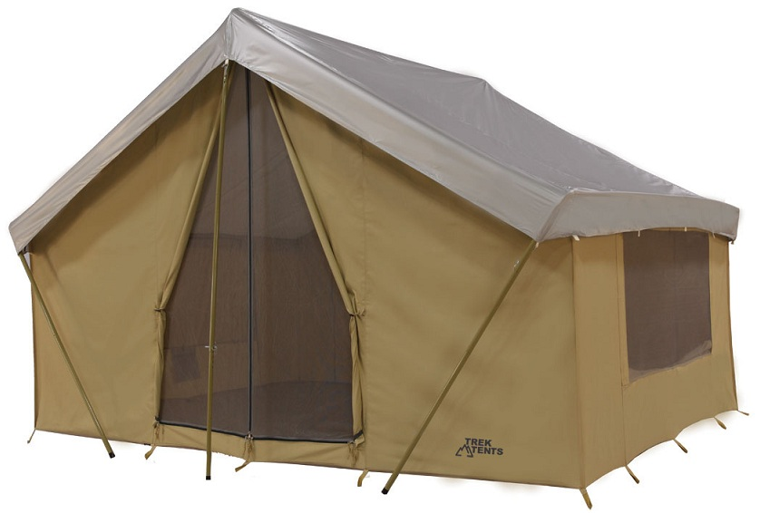 Trek Tents 246C Cavas Cabin 10u0027 x 14u0027 Heavy Duty 9 Person Tent w  sc 1 st  Walmart & Trek Tents 246C Cavas Cabin 10u0027 x 14u0027 Heavy Duty 9 Person Tent w ...