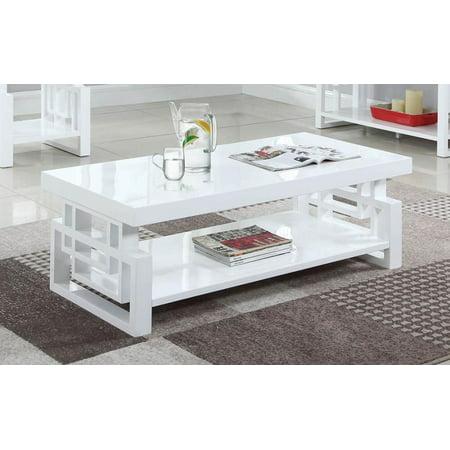 Coaster Home Furnishings 705708 Coffee Table, High Glossy White Coaster Home Furnishings 705708 Coffee Table, High Glossy White