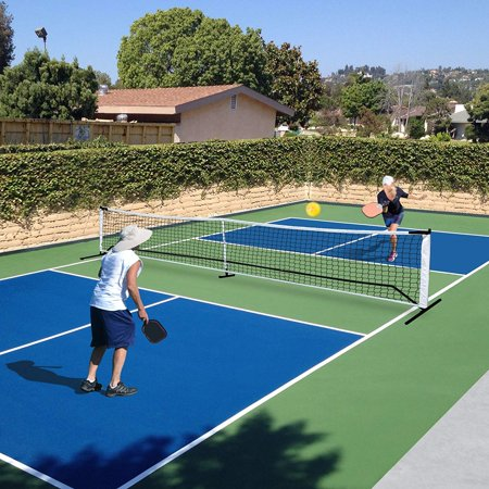 UBesGoo 22ft x 3ft Pickleball Net Set System, Portable Tennis Net, Includes Metal Frame, Tension Strap Net, Carry -