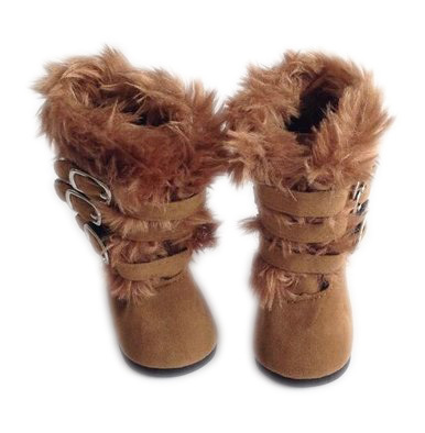 My Brittany's Brown Fur Boots For American Girl Dolls and My Life as Dolls