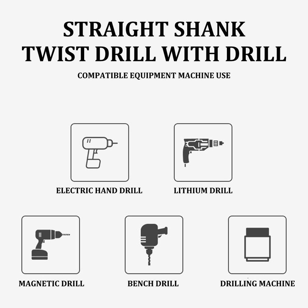 Twist Drill Bit Iron-Containing Full-Grinding Straight Shank Drill Bit#^