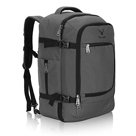 92d683529 Hynes Eagle - 40L Flight Approved Carry on Backpack (Gray) - Walmart.com