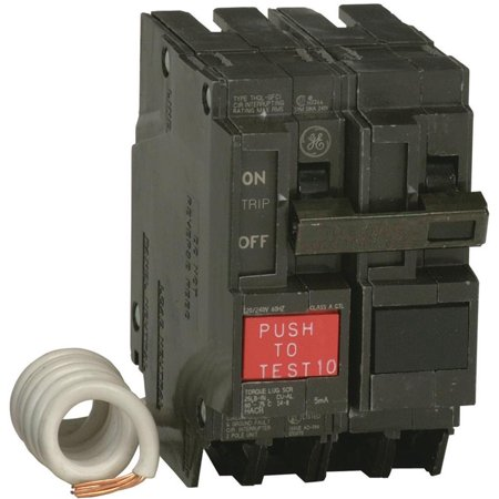 GE THQL2130GFTP Ground Fault Circuit Breakers, Double Pole ? Self Test, 30 (Ground Fault Breaker)