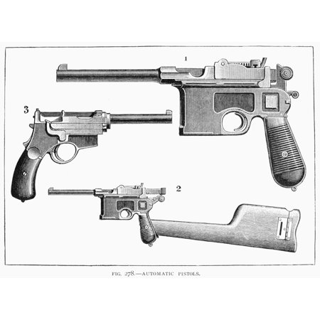 Automatic Pistols N1) Mauser Pistol 2) Mauser Pistol With Attachable Stock  This Stock Is Hollow And Doubles As The Case For The Pistol 3) Mannlicher