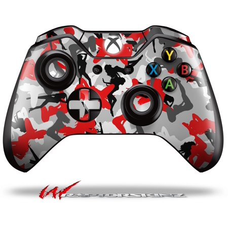 Decal Style Skin For Microsoft Xbox One Wireless Controller Sexy Girl Silhouette Camo Red    Controller Not Included