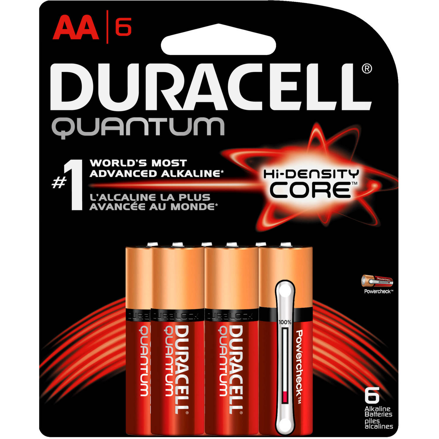 Duracell Quantum AA Alkaline Household Batteries 6ct Pack