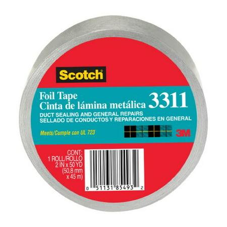 Scotch Foil Tape, 2-Inch by 50-Yard