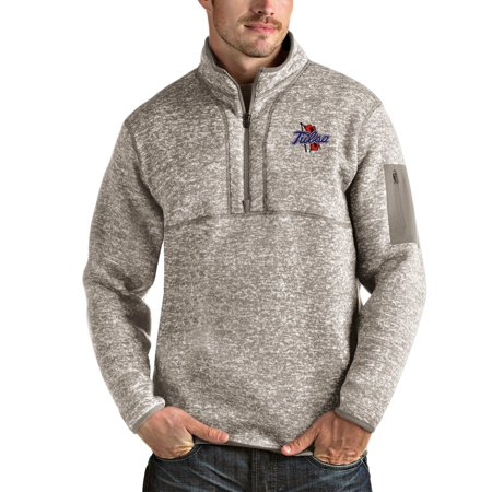Tulsa Golden Hurricane Antigua Fortune Half-Zip Pullover Jacket - Oatmeal ()