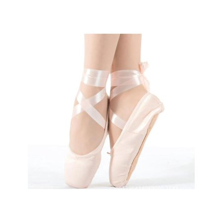 Meigar Women Pink Ballet Dance Toe shoes Professional Ladies Satin Pointe Shoes Silk (Dyeable Silk Wedding Shoes)