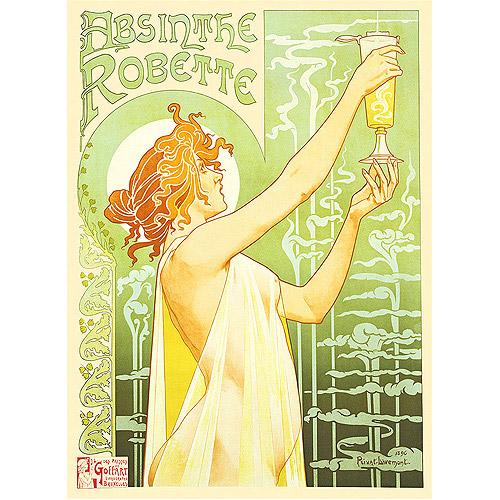 """Trademark Fine Art """"Absinthe Robette"""" Canvas Art by Privat Livemont"""