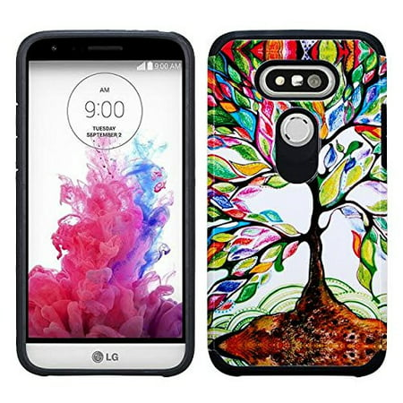 LG G5 Case, Slim Hybrid Dual Layer[Shock Resistant] Case Cover for LG G 5 - Vibrant Tree