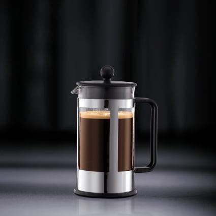 Bodum KENYA French Press Coffee Maker, 1 L, 34 oz, 8 Cup, Black