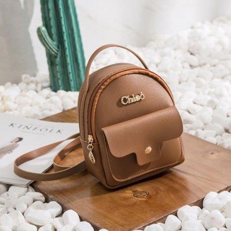- Women Mini Backpack PU Leather Shoulder School Rucksack Ladies Girls Travel Bag