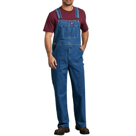Overall Print Footed Coverall (Men's Stonewashed Indigo Bib)