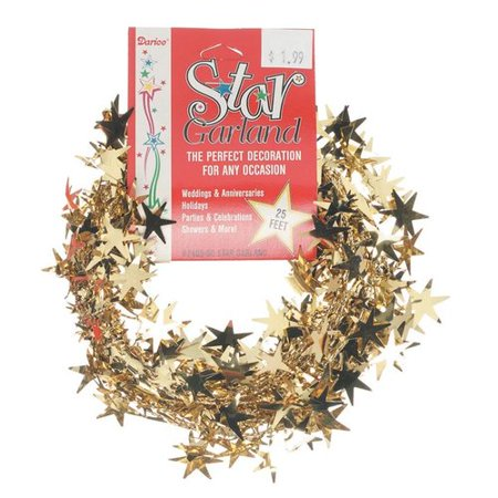 The Holiday Aisle Gold Foil Assorted Star - Gold Star Garland