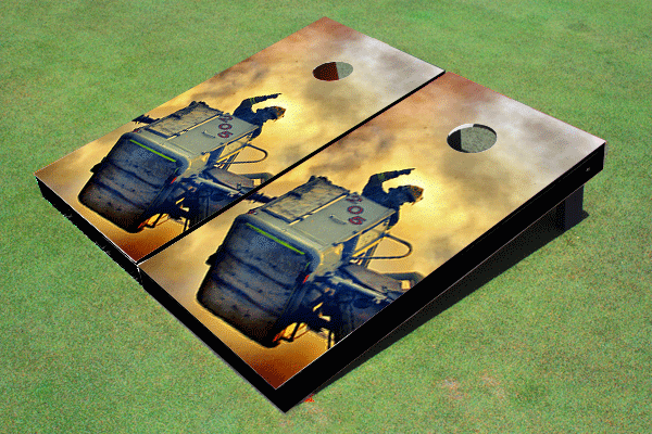 Fire Fighter 2 Themed Cornhole Boards by All American Tailgate
