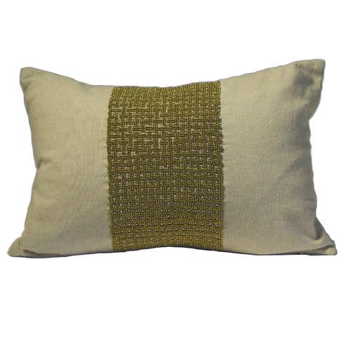 Debage Inc. Mirasol Center Beads Feather Pillow (Set of 2)