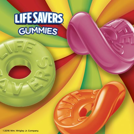 Life Savers Candy Gummies 5 Flavors, 7.0 OZ