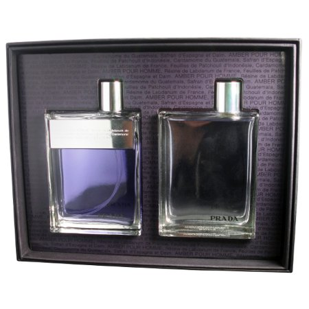 91b17668fc9d Prada Amber Pour Homme by Prada Gift Set - 3.4oz EDT Spray + 3.4oz  Aftershave Splash - Walmart.com