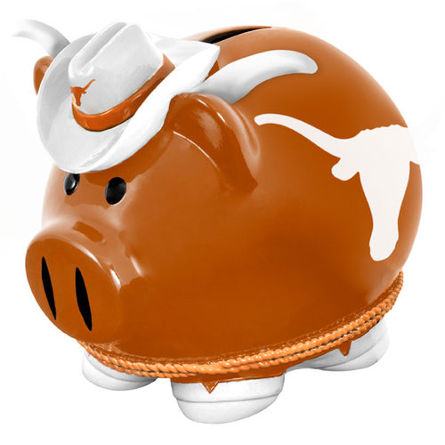 NCAA Texas Longhorns Thematic Piggy Bank by Forever Collectibles