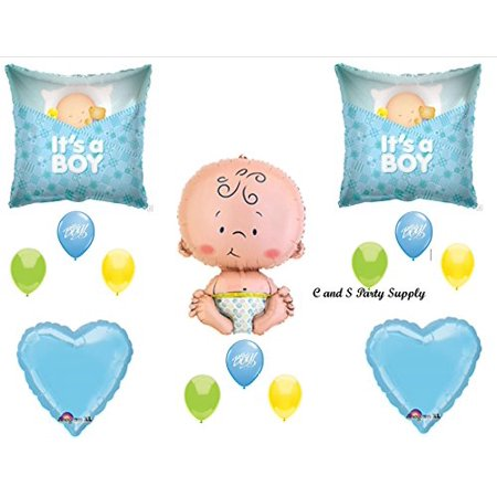 IT'S A BOY SLEEPING BABY SHOWER Balloons Decorations Supplies