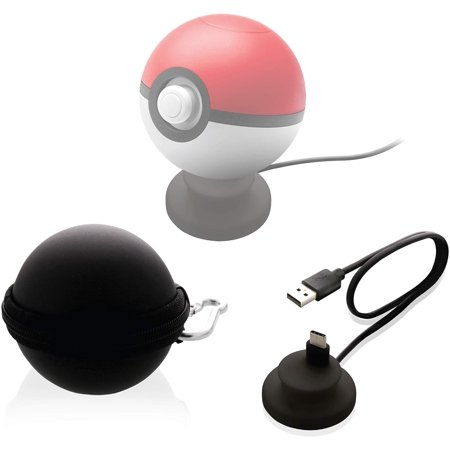 Nyko Charge Base Plus USB Type-C Charging Dock and Carrying Case for Poké Ball Plus Nintendo Switch