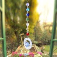Ccdes Handmade Hanging Pendant Rainbow Crystal Prisms Ball Chandelier Lamp Xmas Window Decor , Decorative Pendant,Hanging Pendant