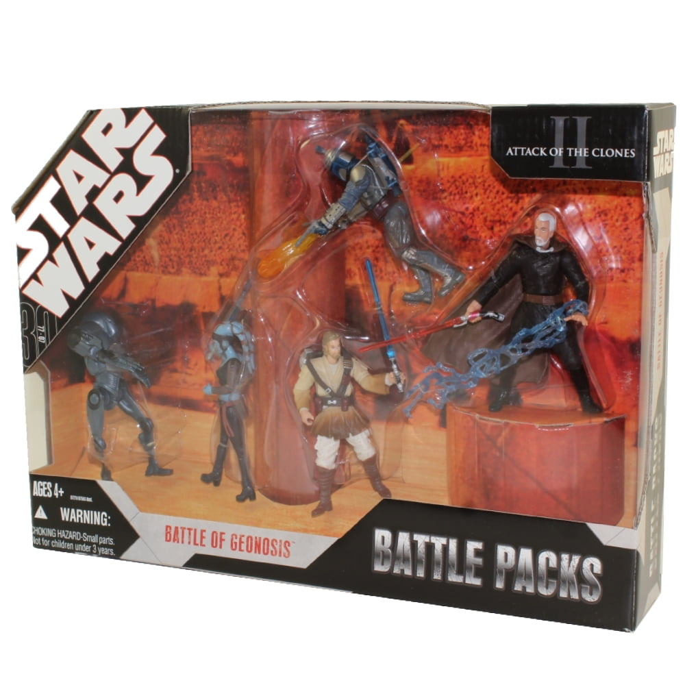 obi wan /& jango fett Star Wars Battle Pack-GEONOSIS ARENA battle droid