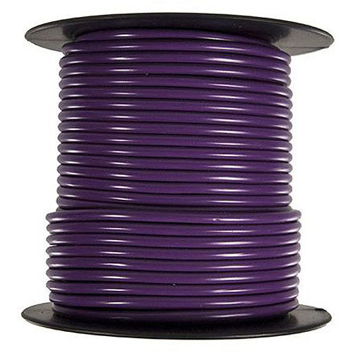 JT&T Products 104C 10 AWG Purple Primary Wire, 100' Spool