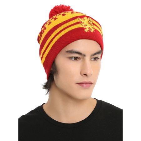 Harry Potter Pom Beanie | House Crest Collectors Edition (Gryffindor, Ravenclaw, Slytherin,