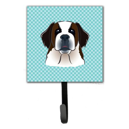 Caroline's Treasures Checkerboard Saint Bernard Leash Holder and Wall Hook